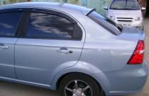 Спойлер на стекло Шевроле Авео Т250 3 (спойлер на заднее стекло Chevrolet Aveo 3 T250)