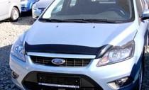 Мухобойка Ford Focus 2 рестайлинг (дефлектор капота Форд Фокус 2 рестайл)