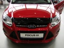 Мухобойка капота Форд Фокус 3 (дефлектор на капот Ford Focus 3)