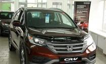 Мухобойка капота Хонда СРВ 4 (дефлектор на капот Honda CR-V 4)