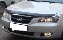 Мухобойка капота Хендай Соната 5 НФ (дефлектор на капот Hyundai Sonata 5 NF)