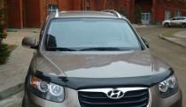 Мухобойка капота Хендай Санта Фе 2 СМ (дефлектор на капот Hyundai Santa Fe 2 CM)