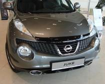 Дефлектор капота Ниссан Жук (мухобойка Nissan Juke)