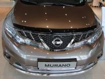 Мухобойка капота Ниссан Мурано Z51 (дефлектор на капот Nissan Murano Z51)