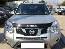 Дефлектор капота Ниссан Х-Трейл Т31 с логотипом (мухобойка Nissan X-Trail T31 Logo)