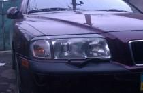 Реснички на фары Вольво S80 (накладки на передние фары Volvo S80