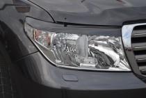Реснички на фары Тойота Ленд Крузер 200 (накладки фар Toyota Land Cruiser 200)