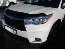SIM Дефлектор капота Тойота Хайлендер 3 (мухобойка Toyota Highlander 3)