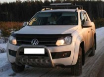 Дефлектор капота Фольксваген Амарок (мухобойка Volkswagen Amarok)