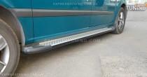 Пороги площадкой Mercedes Vito W639 стиль Almond серые