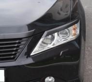 Реснички на фары Тойота Камри 50 (накладки фар Toyota Camry V50)