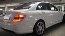 Лип спойлер на крышку багажник Mercedes C204 (C-class)