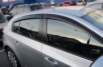 Ветровики Шевроле Круз 1 (дефлекторы окон Chevrolet Cruze 1 hb)