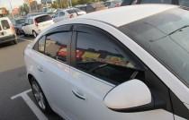 Ветровики Chevrolet Cruze 1 седан (дефлекторы окон Шевроле Круз 1 sd)