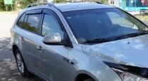 Ветровики Шевроле Круз Вагон (дефлекторы окон Chevrolet Cruze wg)