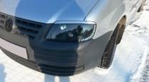 Реснички на фары Фольксваген Кадди (накладки фар Volkswagen Caddy)
