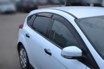 Ветровики Форд Фокус 3 хэтчбек (дефлекторы окон Ford Focus 3 хэтчбек)