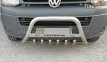 Кенгурятник Volkswagen Transporter T5 с усами (защита переднего бампера Фольксваген Транспортер Т5)