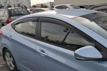 Ветровики Хендай Элантра 5 (дефлекторы окон Hyundai Elantra MD)