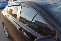 Cobra Tuning Ветровики Хендай Солярис седан (дефлекторы окон Hyundai Solaris седан)
