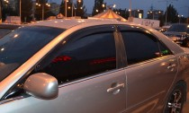 Ветровики Хендай Соната 5 (дефлекторы окон Hyundai Sonata 5 NF)