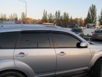 Ветровики для Mitsubishi Outlander Xl (дефлекторы окон Митсубиси