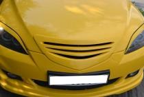 Решетка Мазда 3 Bk хэтчбек (решетка радиатора Mazda 3 Bk hatchback)
