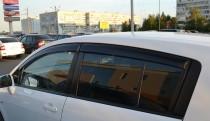 Ветровики Ниссан Тиида 1 хэтчбек (дефлекторы окон Nissan Tiida 1 Hb)