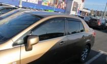 Ветровики Ниссан Тиида 1 седан (дефлекторы окон Nissan Tiida 1 sedan)