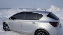 Ветровики Опель Астра J (дефлекторы окон Opel Astra J hb)