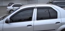 Ветровики Renault Logan 1 (дефлекторы окон )