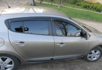 Ветровики Рено Меган 3 (дефлекторы окон Renault Megane 3)