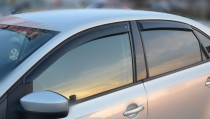 Cobra Tuning Ветровики Фольксваген Поло 5 седан (дефлекторы окон Volkswagen Polo 5 sedan)
