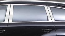 Хромированные молдинги дверных стоек Ауди Q7 (хром молдинги на стойки Audi Q7)