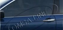Хромированные молдинги стекол БМВ 3 Е46 (хром нижние молдинги стекол BMW 3 E46)