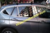Хромированные молдинги дверных стоек БМВ Х1 Е84 (хром молдинги на стойки BMW X1 Е84)