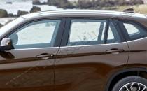 Хромированные молдинги стекол БМВ Х1 Е84 (хром нижние молдинги стекол BMW X1 E84)