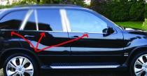 Хромированные молдинги стекол БМВ Х5 Е70 (хром нижние молдинги стекол BMW X5 E70)
