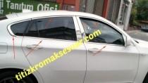 Хромированные молдинги стекол БМВ Х6 Е71 (хром нижние молдинги стекол BMW X6 E71)
