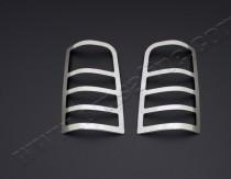 Хромированная окантовка на стопы Ситроен Берлинго 1 (хром накладки на стопы Citroen Berlingo 1)