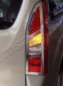 Хромированная окантовка на стопы Ситроен Берлинго 2 (хром накладки на стопы Citroen Berlingo 2)