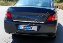 Хромированная кромка багажника Ситроен С-Элизе (хром нижняя кромка крышки багажника Citroen C-Elysee)