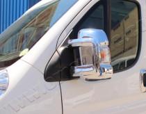 Хром накладки на зеркала Ситроен Джампер 2 (хромированные накладки на боковые зеркала Citroen Jumper 2)