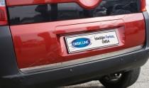 Хромированная кромка багажника Ситроен Немо (хром нижняя кромка крышки багажника Citroen Nemo)