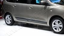 Купить хром молдинги боковых дверей Renault Lodgy (хром пакет на