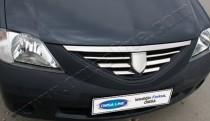 Хром накладки на решетку радиатора Рено Логан 1 (хромированные накладки на решетку радиатора Renault Logan 1)