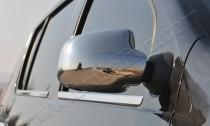 Хром накладки на зеркала Рено Сандеро 1 (хромированные накладки на боковые зеркала Renault Sandero 1)