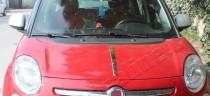 Хром накладка на капот Фиат 500L (хромированная полоска капота Fiat 500L)