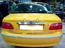 Хромированная накладка на багажник Фиат Албеа (хром накладка над номером Fiat Albea)