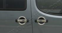 Хром накладки на ручки Фиат Добло 1 (хромированные накладки на дверные ручки Fiat Doblo 1)